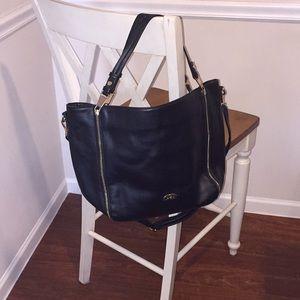 Beautiful Black Faux Leather Crossbody/Top Handle